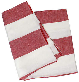 Harbour Island Beach Towel - Red - Hedgehouse