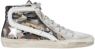 Golden Goose Slide Camo High-Top Sneakers