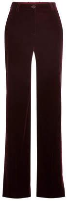 Roberto Cavalli Wide Leg Velvet Pants