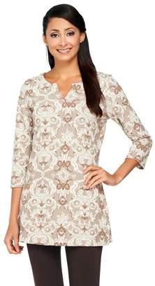 Liz Claiborne New York Floral Jacquard Knit Tunic
