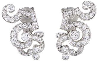 Cartier Heritage  Platinum 6.71 Ct. Tw. Diamond Drop Earrings