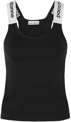 Paco Rabanne Printed Stretch-jersey Tank - Black