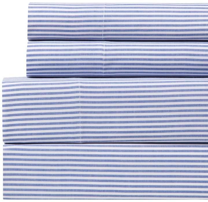 Westport Home Yarn Dyed Stripe 200 Thread Count Sheet Set