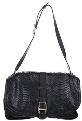 Victoria Beckham Snakeskin & Leather Shoulder Bag