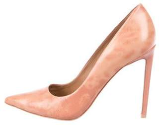 Brian Atwood Embossed Leather Pumps Beige Embossed Leather Pumps