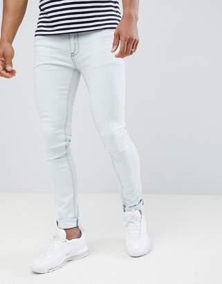 Soul Star Skinny Fit Jeans in Bleach Wash