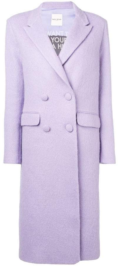 oversized double breasted coat