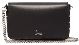 Christian Louboutin Zoompouch Fold Over Leather Bag - Womens - Black Multi