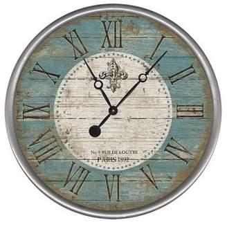 Vintage Signs Fleur Wall Clock