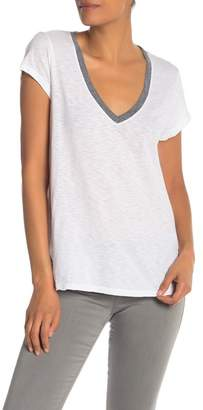 Michael Stars Raw Trim V-Neck Tee