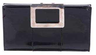 Roger Vivier Patent Leather Belle Clutch