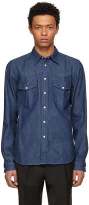 Paul Smith Blue Tailored Denim Shirt