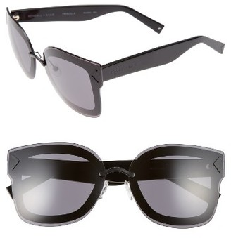 Women's Kendall + Kylie Priscilla 65Mm Butterfly Sunglasses - Matte Black/ Matte Red/ Black $190 thestylecure.com