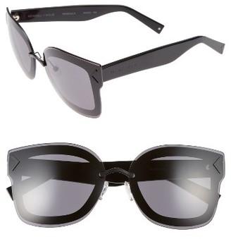 Women's Kendall + Kylie Priscilla 65Mm Butterfly Sunglasses - Matte Black/ Matte Red/ Black $190 thestylecure.com