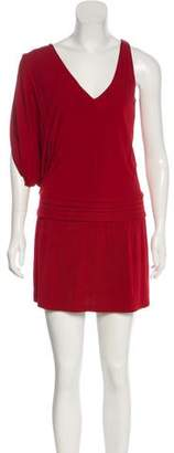 Haute Hippie One-Shoulder V-Neck Tunic w/ Tags