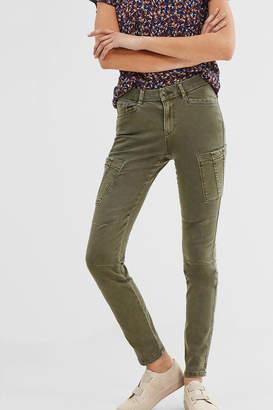 ESPRIT jewel Khaki Woven Pants $105 thestylecure.com