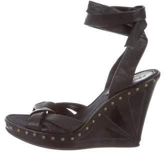 Fendi Studde Wedge Sandals