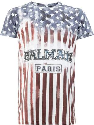 Balmain stars and stripes T-shirt
