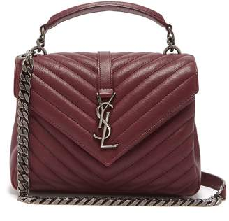 Saint Laurent Collège medium quilted leather cross-body bag