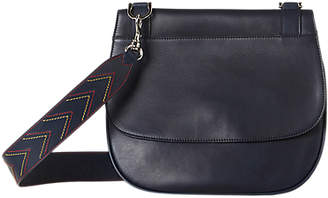 Gerard Darel You Leather Shoulder Bag, Navy