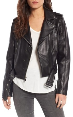 Women's Sam Edelman Starburst Studded Crop Moto Jacket