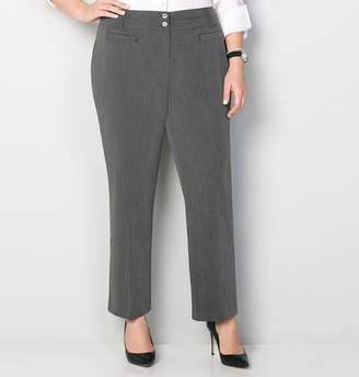 Avenue Double Button Split Waist Pant