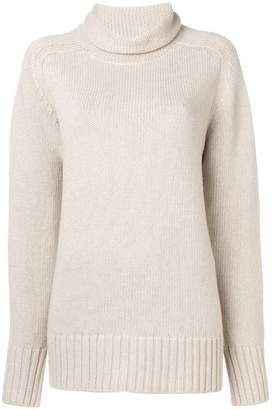 Joseph oversized roll neck knitted sweater