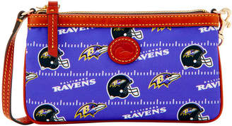 Dooney & Bourke NFL Ravens Large Slim Wristlet