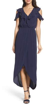 Fraiche by J Cold Shoulder Maxi Dress
