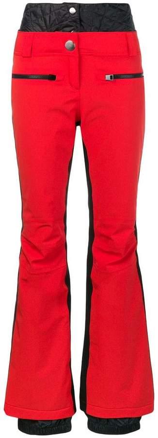 side stripe bootleg trousers