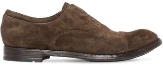 Officine Creative LACELESS SUEDE OXFORD SHOES