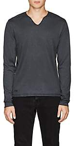 Zadig & Voltaire MEN'S COTTON HENLEY