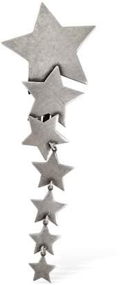 Saint Laurent Etoile Silver Clip-On Earrings