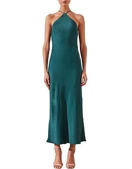 Shona Joy Halter Bias Midi Dress