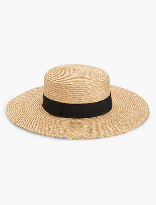 Structured Boater Hat $49.50 thestylecure.com