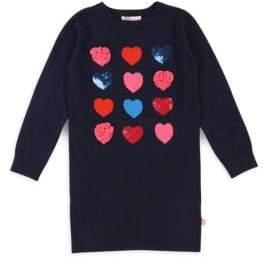 Billieblush Little Girl's Knitted Heart Sweater Dress
