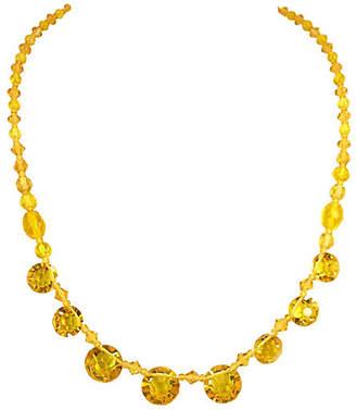 One Kings Lane Vintage Edwardian Citrine Crystal Necklace