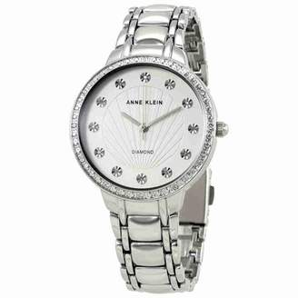 Anne Klein Silvery White Dial Stainless Steel Ladies Watch 2781SVSV
