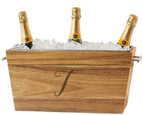 Cathy's Concepts Personalized Wedding Acacia Beverage Trough