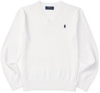 Ralph Lauren Embroidered Long-Sleeve Shirt, Big Boys (8-20) $65 thestylecure.com