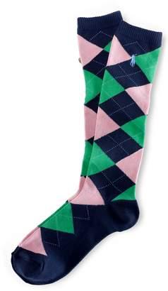 Ralph Lauren Argyle Knee-High Socks