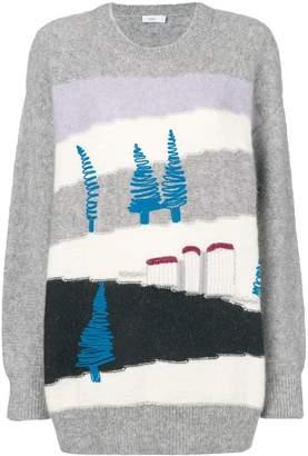 Closed colour-block sweater