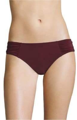 Heidi Klein Ruched Side-Seamed High-Rise Bikini Bottom