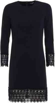 DSQUARED2 Macramé Trimmed Cady Dress