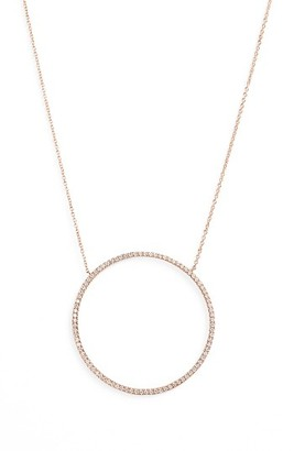 Women's Bony Levy Large Circle Pendant Necklace (Nordstrom Exclusive) $1,995 thestylecure.com