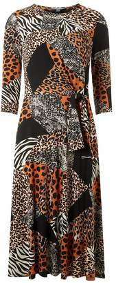 Dorothy Perkins Womens Tall Animal Print Dress - Black
