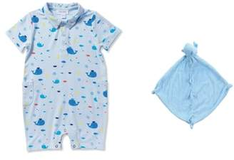 Angel Dear Whale Romper & Blankie Set