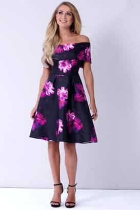Next Womens Sistaglam Floral Bardot Skater Dress