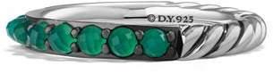 David Yurman Osetra Band Ring with Green Onyx