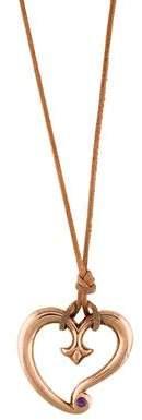 Tamara Comolli Brass Sapphire Gypsy Heart Pendant Necklace
